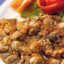 หอยนางรมทอดกระเทียมพริกไทย