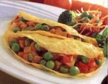 ไข่ยัดไส้ผัก