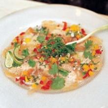 ปลาแซลมอนหมักมะนาว