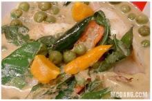 แกงเขียวหวานปลาหมึกยัดไส้ปลากรายไข่เค็ม