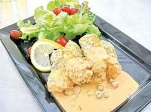 สเต๊กปลาแมคเคอเรลผสมผัก
