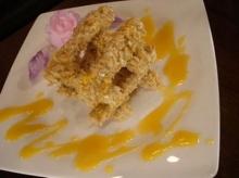 เผือกทอดข้าวโอ๊ตกับน้ำผึ้งเนยสด