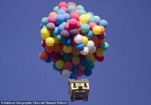 มะกันเจ๋ง เลียนแบบการ์ตูนUP ของPixarสำเร็จ ยกบ้านลอยขึ้นฟ้าสูงหมื่นฟุตด้วยลูกโป่ง