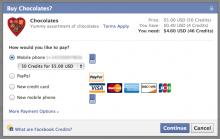 Facebook เปิดชำระเงินผ่านผู้ให้บริการเครือข่ายมือถือแล้ว
