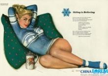 ปฏิทินโบราณ ย้อนยุคปี 1950 American calendar girl