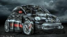สุดแปลกตา บ.รถยนต์โฆษณานางแบบเปลือยหมู่เพนต์ตัวเป็นรถหรูสุดเหมือนจริง