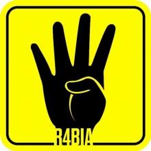 R4BIA ชูสี่นิ้ว แสดงพลังต้านสังหารหมู่อียิปต์