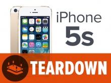 iPhone 5S โดนชำแระชิ้นส่วนภายในแล้ว [iFixit]