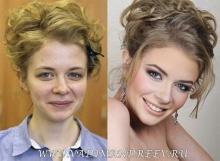 ผลของการแต่งหน้า Before & After