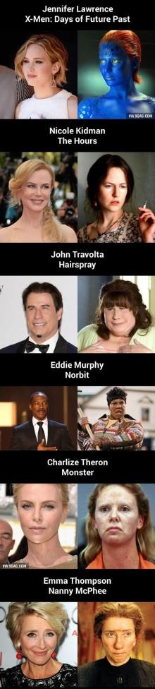 สุดยอด! เมคอัพเปลี่ยนใบหน้านักแสดงเป็นคนละคน