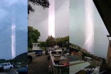พบปรากฎการณ์แสงประหลาดจากฟ้า??