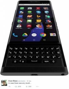 ภาพหลุด BlackBerry Venice สมาร์นโฟนเบอรี่สีดำ เอาใจสาวกชอบขอพิน