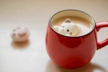 """ให้เครื่องดื่มในยามเช้าของคุณน่ารักยิ่งขึ้นด้วย """"มาร์ชเมลโล่ว์แมว"""""""