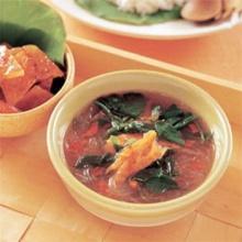 แกงผักหวานวุ้นเส้น ปลาริวกิว