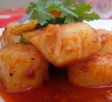 หอยเชลล์ผัดพริกแกง