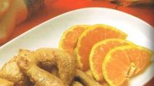 หมูอบกับน้ำส้มคั้น