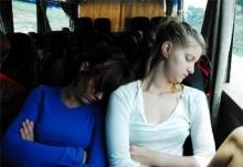 นั่งรถเมล์ทำไมง่วงนอน