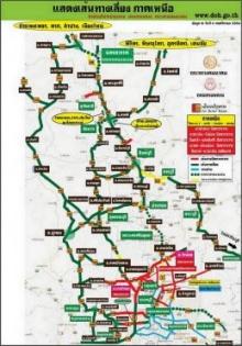 แผนที่แสดงเส้นทางเลี่ยงภาคเหนือ 4/11/2554