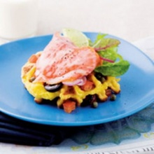 Rosti with Smoke Salmon Salad