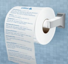 ทุก Tweet มีค่า !! สามารถเอามาทำกระดาษชำระ