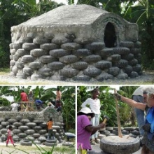 บ้านกันแผ่นดินไหวจากยางรถยนต์ ไอเดียดีดีที่เฮติ
