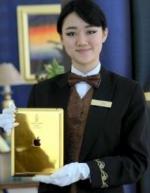 โรงแรมหรูในดูไบ แข่งอลัง!! แจกไอแพดทองคำ 24 กะรัตให้ลูกค้าใช้