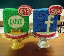 ไอเดียเก๋ ทำพานไหว้ครูรูปแอพฯ เฟซบุ๊ค-ไลน์