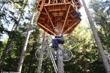 ลิฟต์จักรยานขึ้นบ้านบนต้นไม้