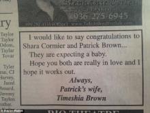 ซื้อพื้นที่โฆษณาในหนังสือพิมพ์ ประชดผัวมีเมียน้อย-ทำหญิงท้อง