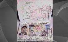 ศิลปะของลูกน้อยบนหน้าพาสปอร์ต เกือบทำพ่อชาวจีนไม่ได้กลับประเทศ