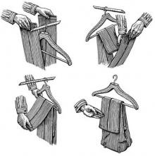 เคล็ดลับ- แขวนกางเกงขายาวแบบมืออาชีพ
