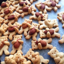 คุกกี้หมีน้อยโอบกอดเม็ดถั่ว