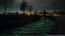 เลนจักรยานเรืองแสงแห่งแรกในโลก