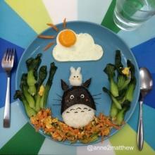 ศิลปะบนจานอาหารน่ารักๆ จากไข่ดาว