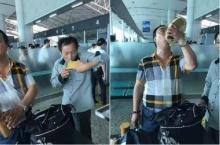 หิ้วไวน์ขวดละ4หมื่นขึ้นเครื่อง แต่จนท.สนามบินไม่ให้ผ่าน เลยเปิดซดมันซะตรงนั้นเลย