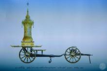 ภาพแบบราชรถปืนใหญ่ ที่ใช้เชิญพระโกศพระบรมศพเวียนรอบพระเมรุมาศ