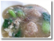 ซุปหมูปั้นเห็ดหอม