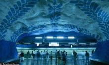 ศิลปะรถไฟใต้ดินที่สวีเดน