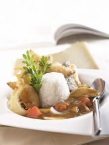 ข้าวหน้าแกงกะหรี่ญี่ปุ่นผักกรอบ