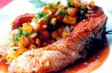 ปลาอินทรีย์ทอดซอสเปรี้ยวหวาน