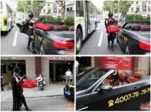 เริ่ดป่ะล่ะ! แคทวูแมนจีน ขับ BMW ส่งพิซซ่าทั่วเซี่ยงไฮ้