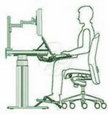 นั่งให้ถูกท่า หน้าคอมพิวเตอร์