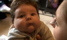 เจ้าหนูไซส์ยักษ์ น้ำหนักตัว 7 กก. ครองแชมป์ทารกตัวใหญ่สุดในอังกฤษ