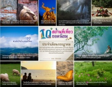 10 สถานที่ท่องเที่ยวยอดนิยม เดือนกรกฎาคม ปีพ.ศ.2556