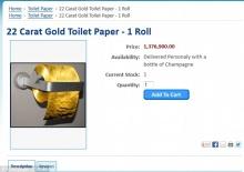 บริษัทออสเตรเลียผลิตกระดาษชำระทองคำ ม้วนละ 40 ล้านบาท