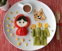 สร้างสรรค์ศิลปะบนจานอาหารให้ลูกๆ