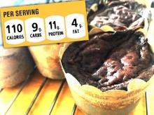 โปรตีนจัดเต็ม! ช็อคโกแลตพีนัทบัตเตอร์คัพเค้ก ไม่มีแป้ง-น้ำตาล-เนย !