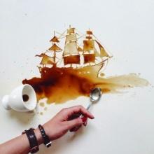 ชมภาพชุด ศิลปะกาแฟหก...เรียบง่าย แต่น่าทึ่ง