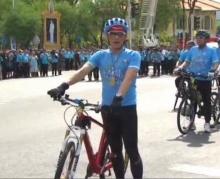 สมเด็จพระบรมฯ - พระองค์ภาฯ ทรงนำขบวนจักรยาน  Bike for Mom ปั่นเพื่อแม่
