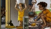 เศร้า!!ภาพวาดสะท้อนความลำบากยากจน ของเด็กคนหนึ่งใน  เฮติ!!